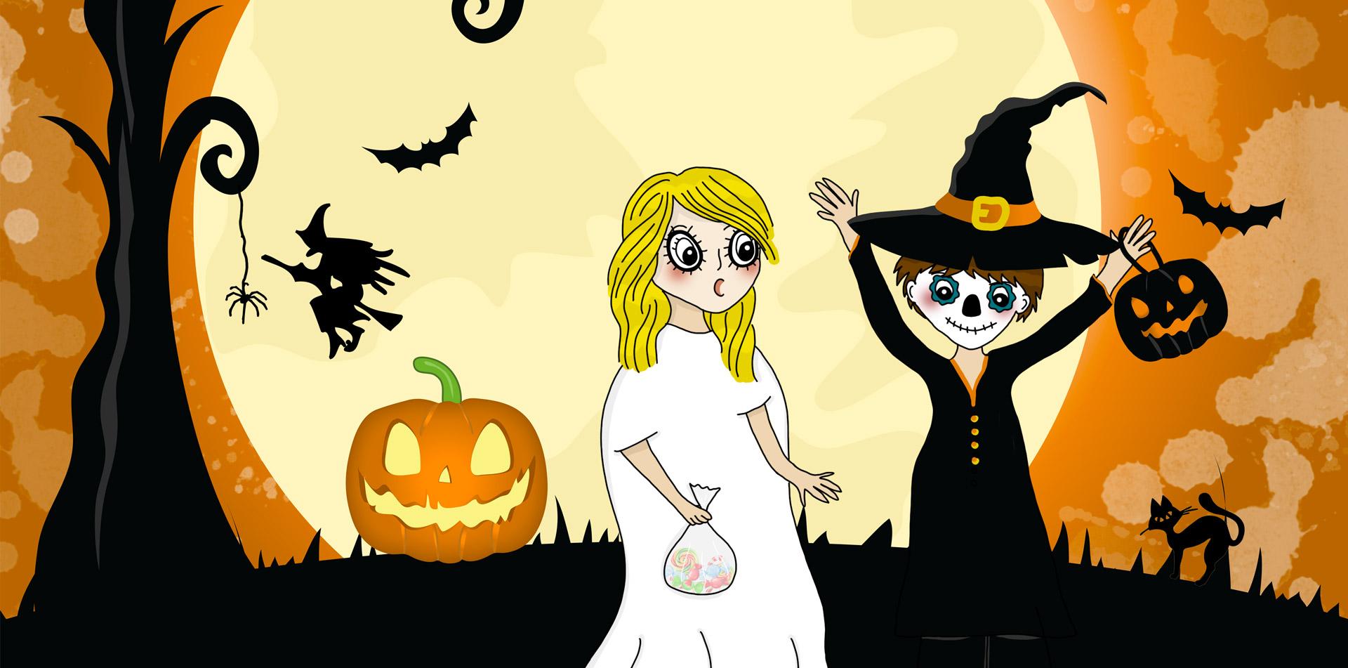 Chasse trésor enfants Halloween à télécharger et imprimer